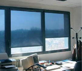 SolarScreen Daglichtfilters op kantoor